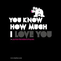 You know hoy much I love you by dificil
