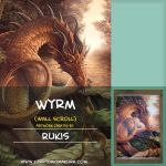 Wyrm Wall Scroll by Rukis by furrydakimakura