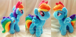 Custom Pony Plush - Rainbow Dash by Sparkle-And-Sunshine