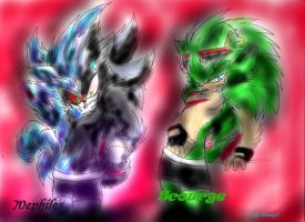 Mephiles and Scourge boxers by Mimy92Sonadow