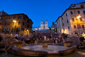 Rome At Night by Lonney