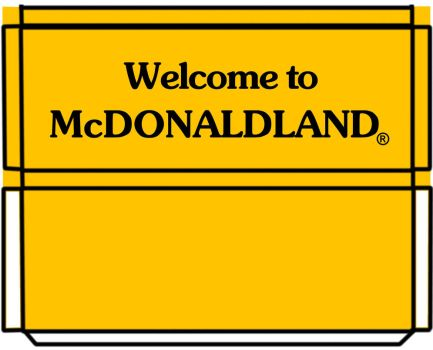 welcome sign 3D by MisterBill82