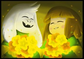 Asriel And Chara by superyoumna