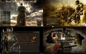 Gears of War ULTIMATE Desktop Theme for Win 7 by ionstorm01