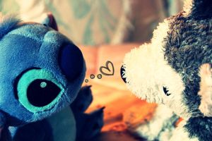 Stitch Love Fluffy by BlackRose-FrozenRose