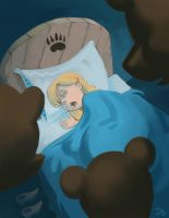 Shhh! Goldilocks is sleeping. by jasonbarton