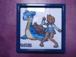 Cross stitch Misty and Lapras by Miloceane