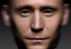 Zbrush Tom Hiddleston head bust by Misstarretje
