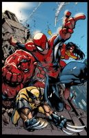 Avenging Spiderman Promo by Joe Mad colored by ginmau