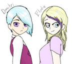 The Twins: Dmitri and Elodie by KuemomoShousa