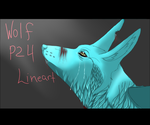 P2U: Winged Wolf Lineart by LadyLirriea