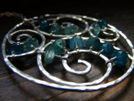 Aquamarine Sprial Waves by MoonLitCreations