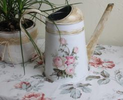 Watering Can Decoupage Tutorial step by step by Kasia1989