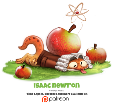 Day 1381. Isaac Newt'on by Cryptid-Creations