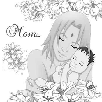 Sakura and her baby by ArisuAmyFan