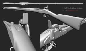 1861 Springfield Musket by redroguexiii