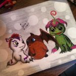 Gomamon, Patamon and Palmon *-* by HeyDuJessy