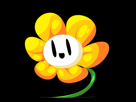 this one flowey is too shiny for me by Soursopful