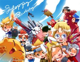 Animonster Birthday.. belated by kuebulan
