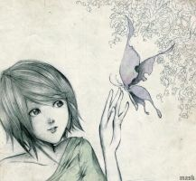 girl and butterfly by bmad95