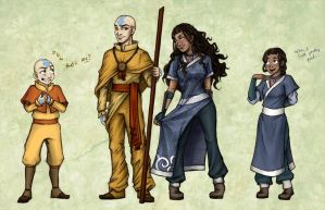 Avatar: Older Kataang Concepts by laiquendi-elf
