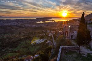 Sunset on Klis by ivancoric