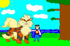Evolved Kairan the playful Arcanine by SuperdragonFeuragon