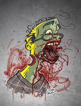 Screamin' Zombie Commision by 25thPixel