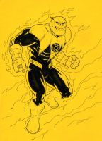 Kilowog as Yellow Lantern by jasonbaroody