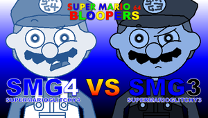 SMG4 VS SMG3 Title Card (Super Mario 64 Bloopers) by Kulit7215