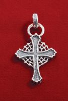 Large web cross pendant. by GerlachStyle