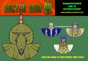 Doctor Who - Dinosaurs on a Spaceship by mikedaws