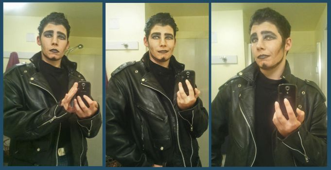Greaseball Makeup Test by exdraghunt