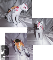 Okami plush by Japandragon