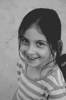 Lovely Smile BW by MADRIDI11