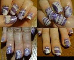 Purple marbling by kelles-nails