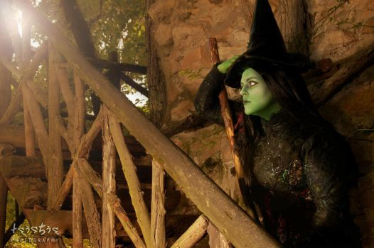 Elphaba Stairs by saethewitch