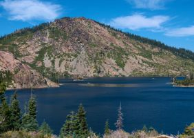 Plumas National Forest, Lake and Mountain #3 by Choc-Ful-A