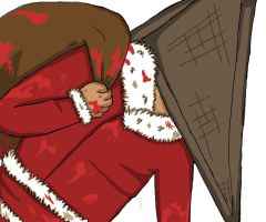 Santa Pyramid Head by wearmuffin
