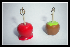 Caramel and Candy Apple Charm by llalore