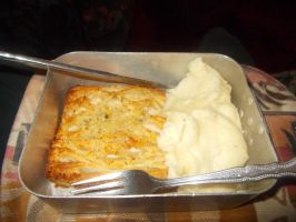 Another chicken and garlic lattice and mash potato by FFDP-Neko