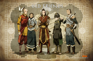 Modified Old Friends Poster Toph, Sokka Tokka by useurcamera