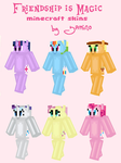 Pony Minecraft Skins by Yamino
