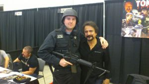 NF Comicon : Me and Tom Savini by TheWarRises