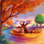 :commission: Trip at sunset by kori7hatsumine
