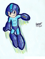 Megaman doodle by ScruffMuhGruff