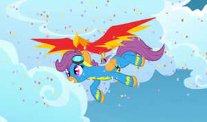 Scoots finally flies! by nekuroSilver