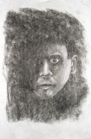 Charcoal Erased Self Portrait by ThePat