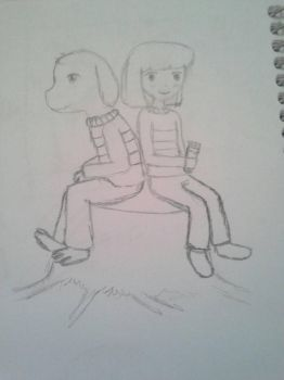 Chara and asriel by fandomsshot