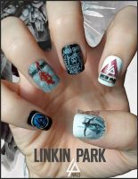Linkin Park Nails by Ninails